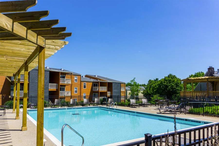 Enjoy a sparkling, resort-style swimming pool