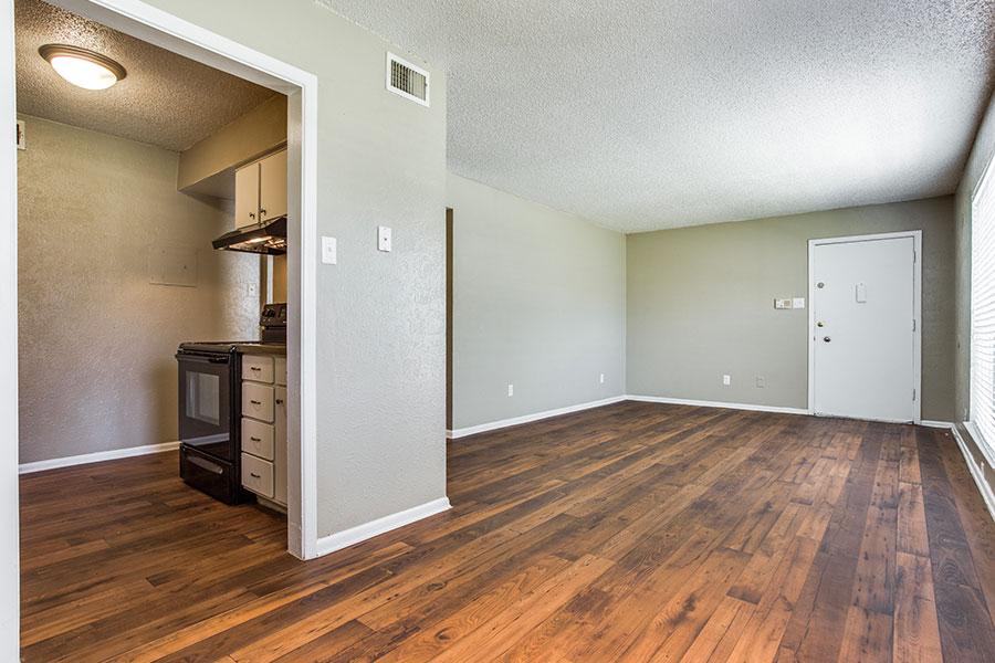 Faux wood floors