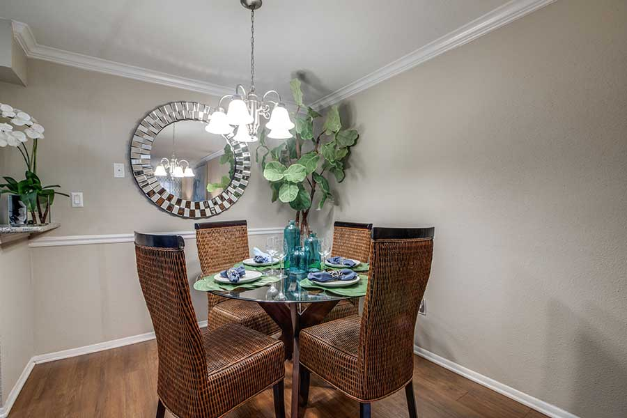 With a dining area and a living room area, entertaining is a breeze.