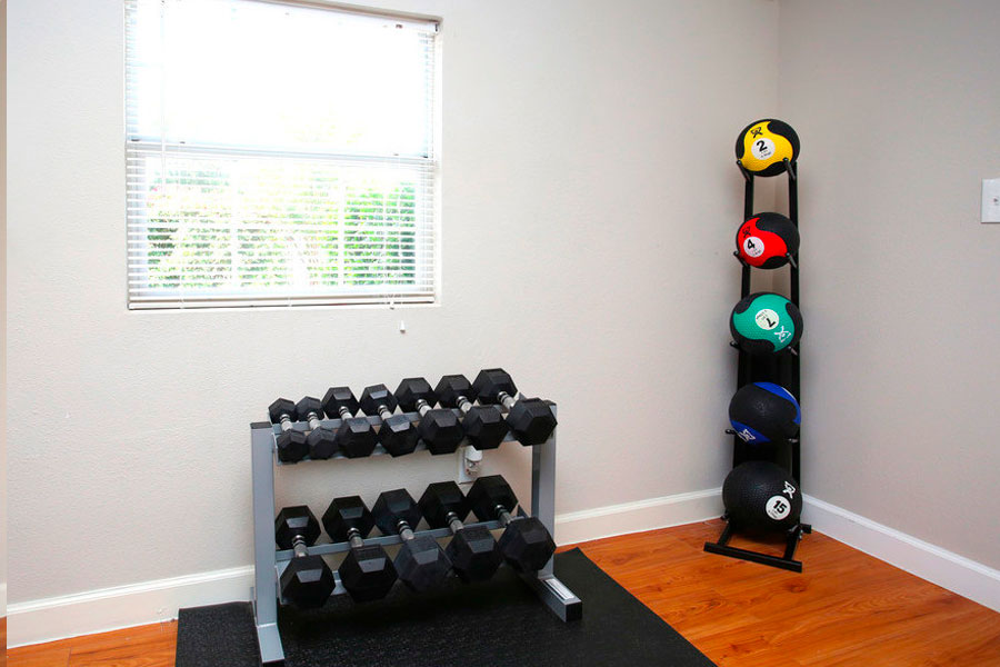 Train hard in our fitness center.