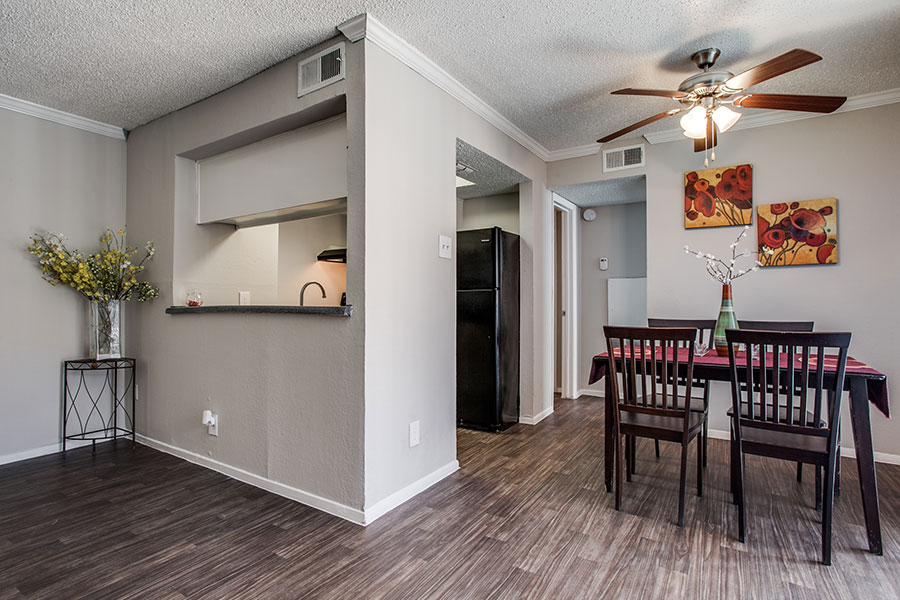 One and Two Bedroom Floor Plans Available