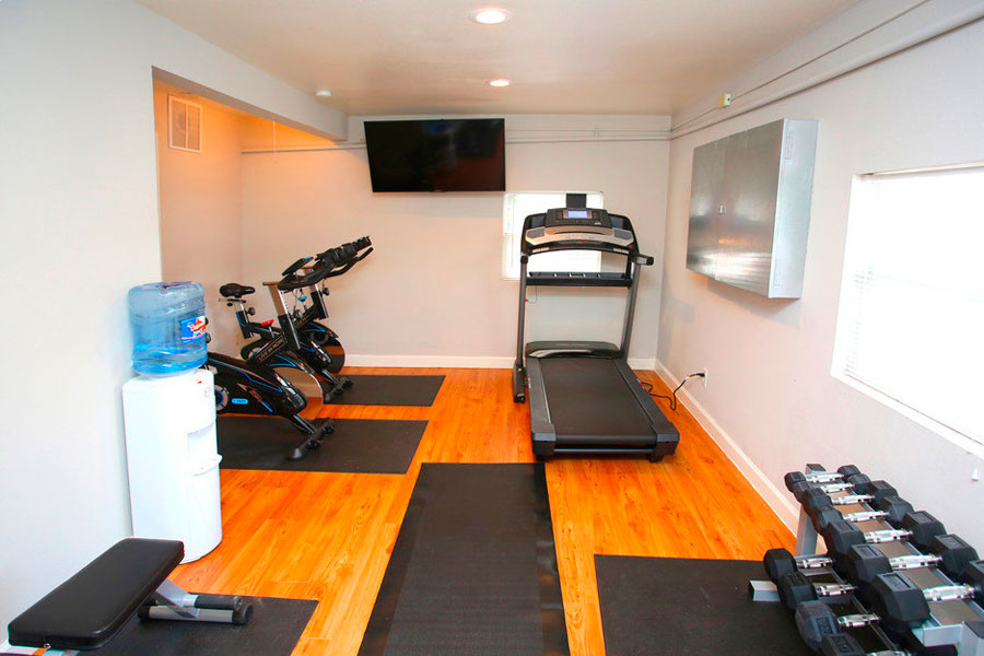 new state-of-the-art fitness room