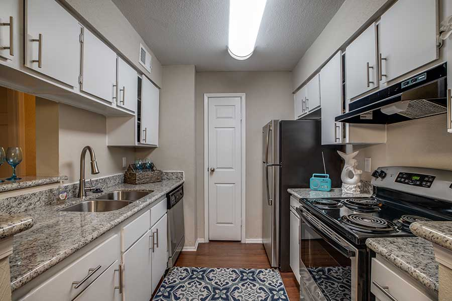 Each of our units comes with fully-equipped kitchens