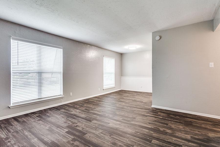 new faux wood flooring.