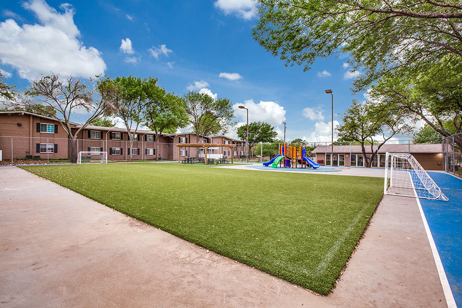 Enjoy your free time at our community sports court!