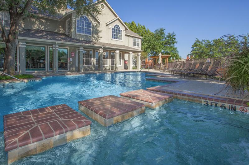 Enjoy the community's sparkling pools