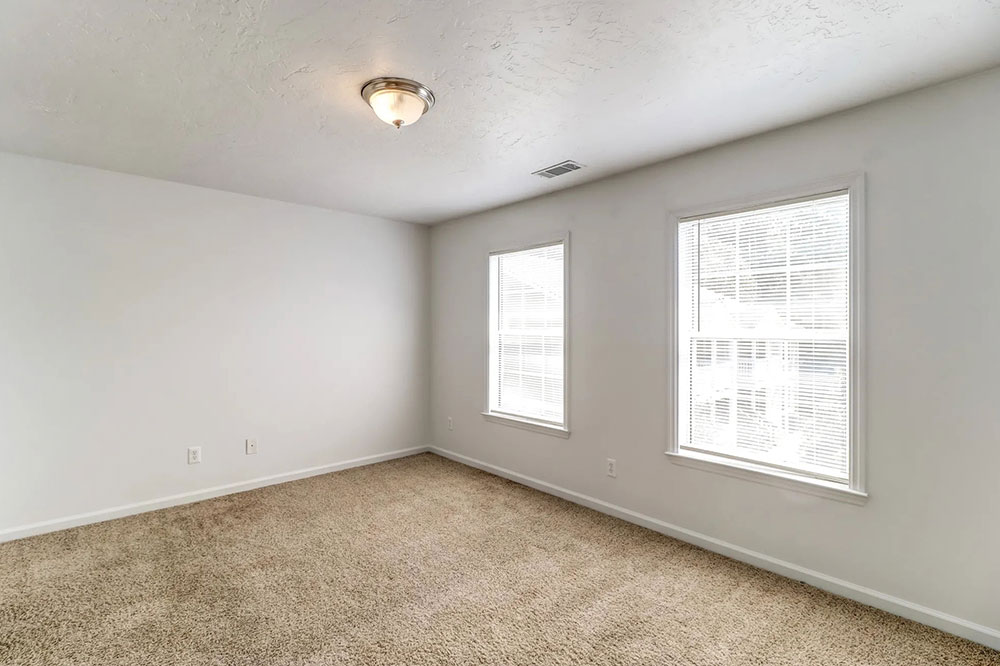 recently-renovated floor plans with soft carpets