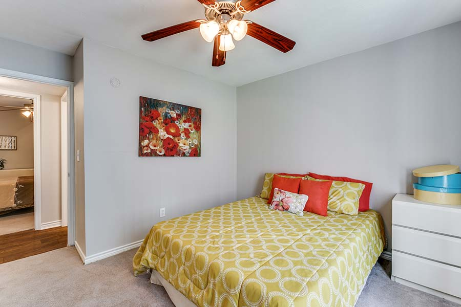 Our spacious bedrooms both come with spacious closets