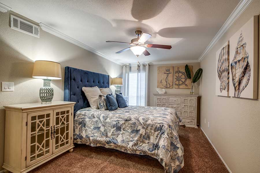 With large master bedrooms