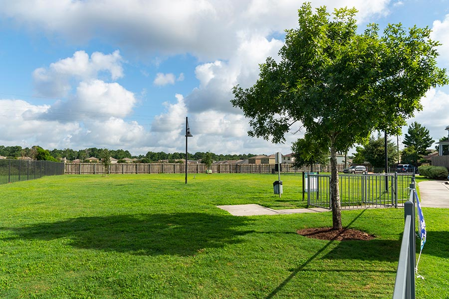Your pup will have the time of his life at our oversized dog park.