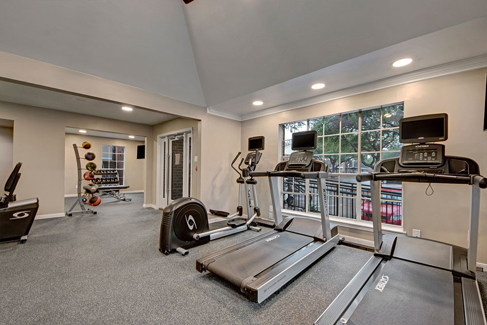 Fitness center with cardio equipment!