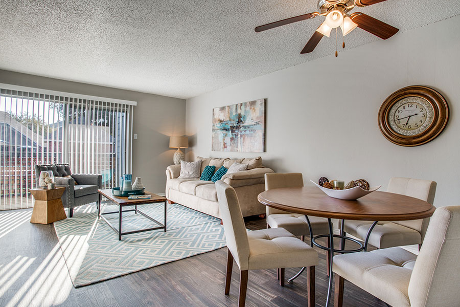 One, Two, and Three Bedrooms Available with Balcony or Private Patios.