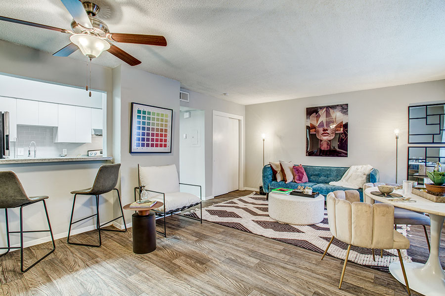 One, two, and three-bedroom apartments for rent in Irving, TX!