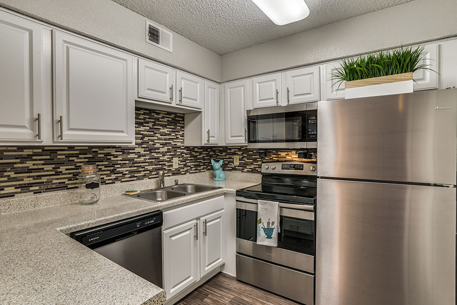 All Electric Kitchen with Granite Inspired Countertops