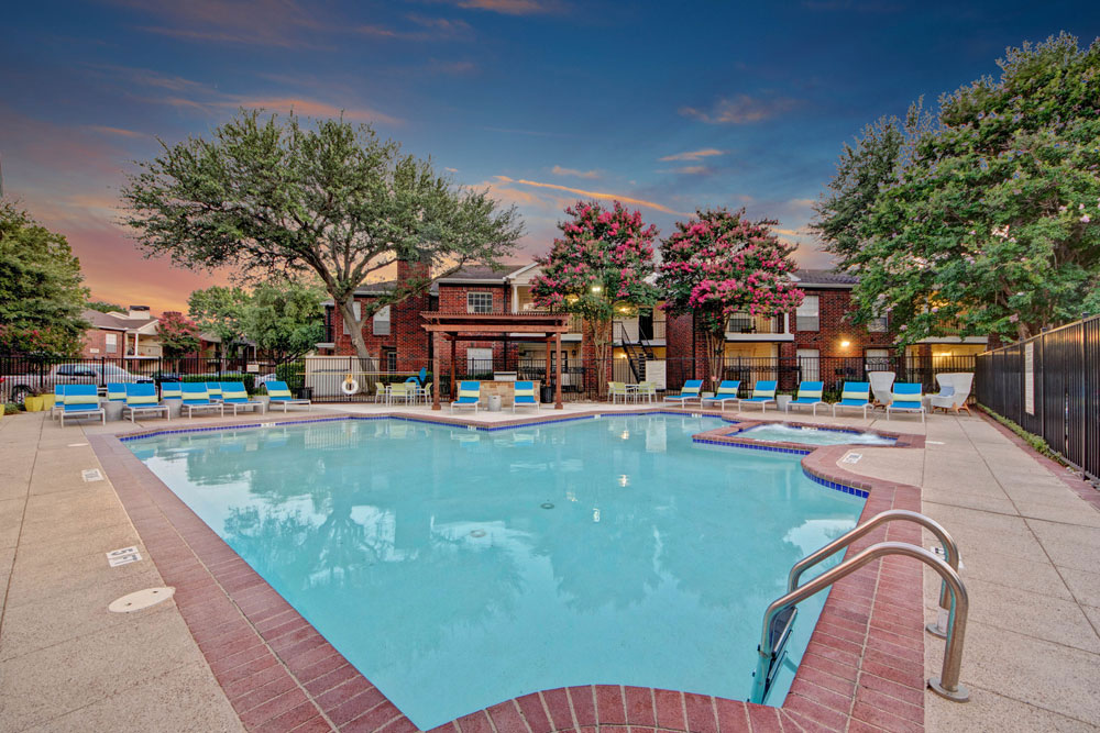 Perfect place to relax at our sparkling swimming pool!