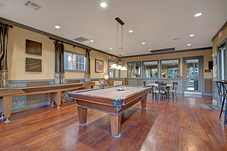 Game Room with Pool Table & Shuffleboard