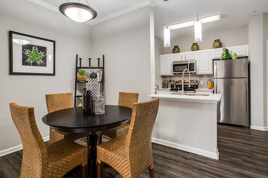 Spacious one-bedroom, two-bedroom, and three-bedroom apartments