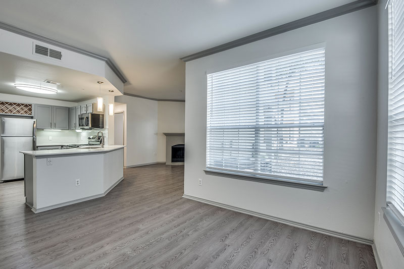 Upgraded apartment homes with stainless steel appliances, large pantry and under cabinet lighting.
