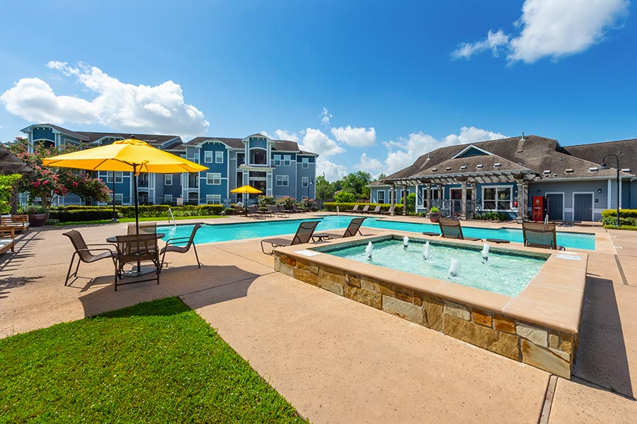 Lounge poolside at our sparkling