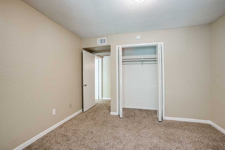 The spacious oversized closets