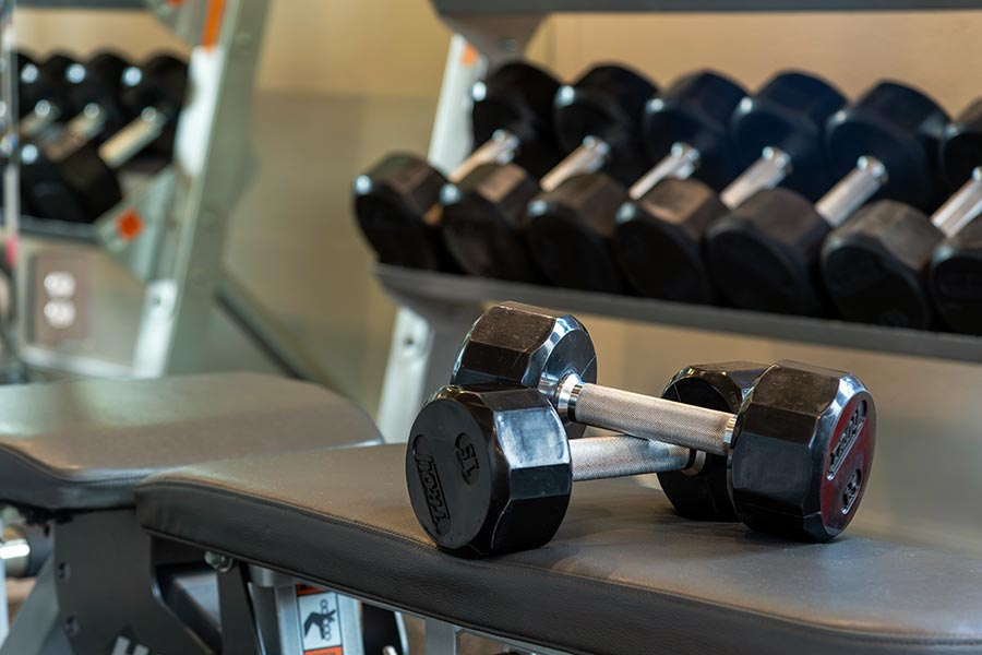 Our large state-of-art fitness center