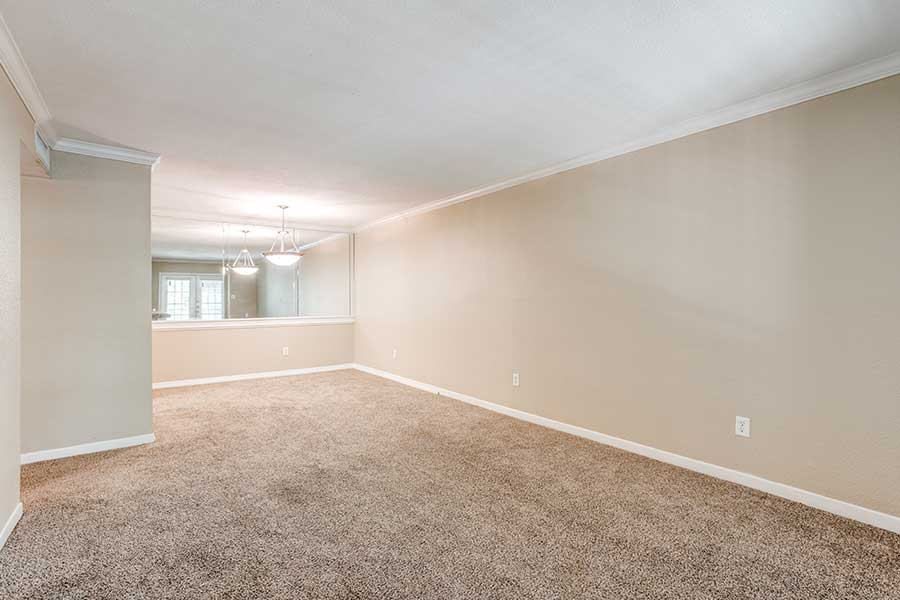 how spacious one bedroom is.