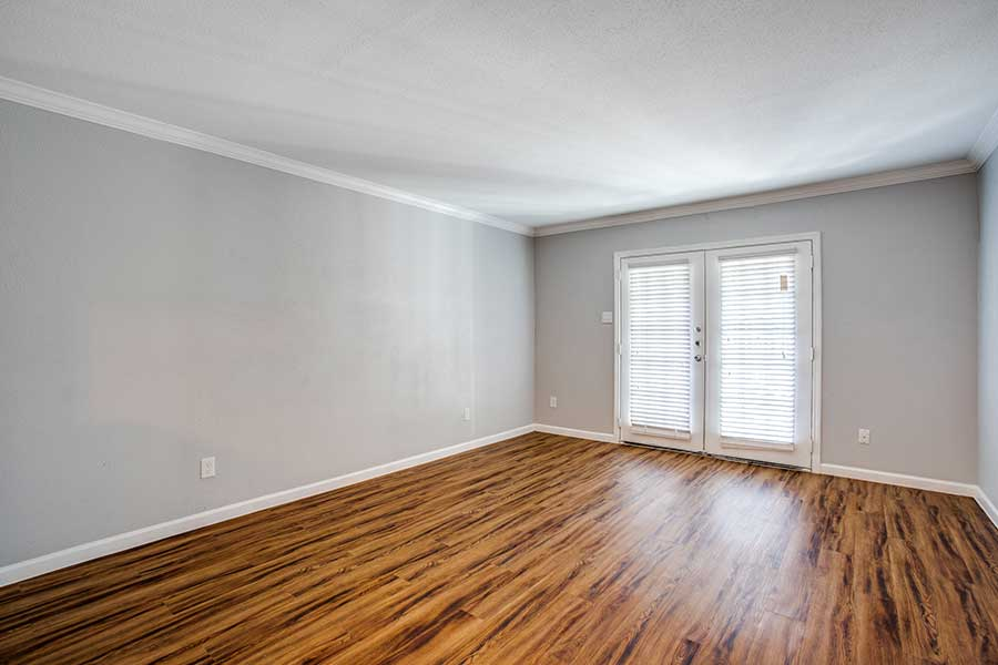 Choose a recently renovated unit with plank wood flooring