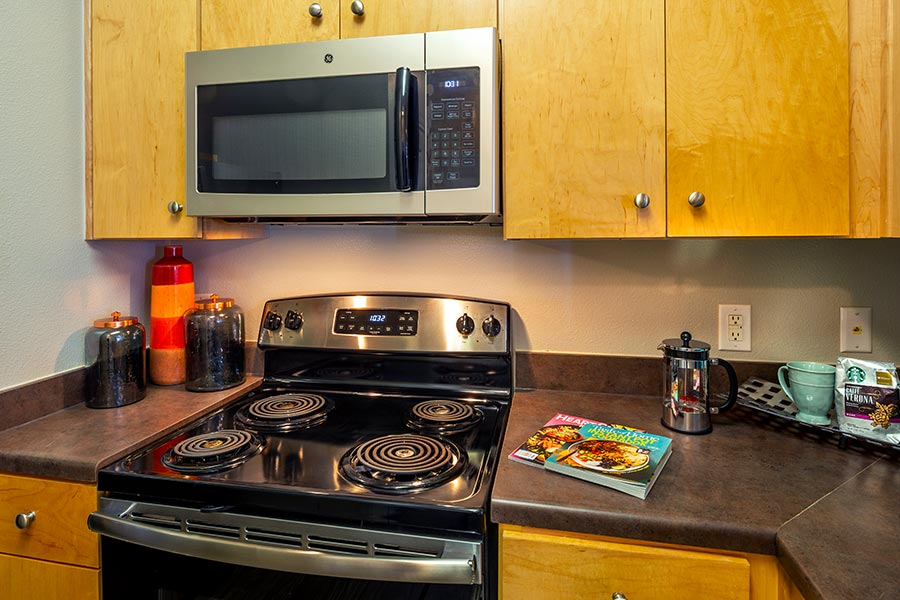 stainless steel GE appliances.