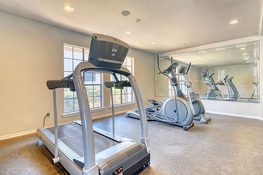 Train hard in our fitness center