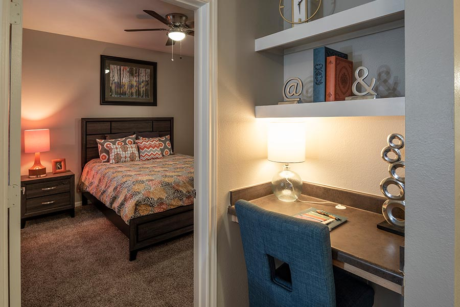 efficiency, one and two-bedroom apartments