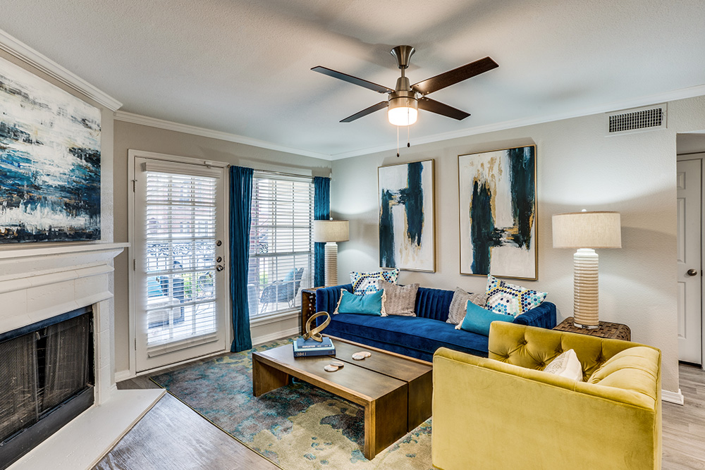Stunning living area with Luxury Vinyl Plank Flooring