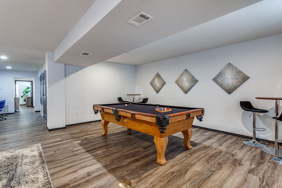 play pool at our fully-equipped clubhouse