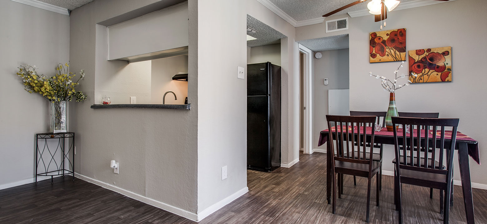 we offer one-bedroom and two-bedroom apartments