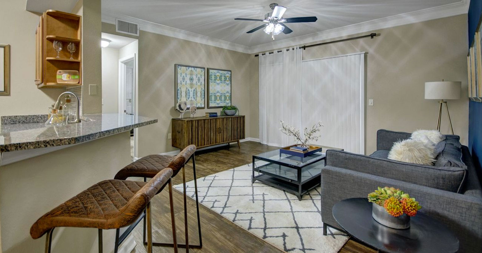One-bedroom, two-bedroom and three-bedroom apartments in Irving